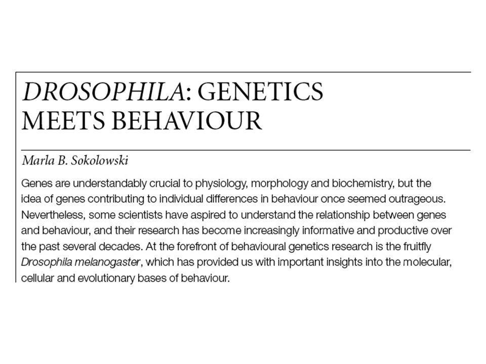 Genomics is transforming studies of the inheritance of animal behavior Compare gene expression in animals involved with all sorts of behaviors….