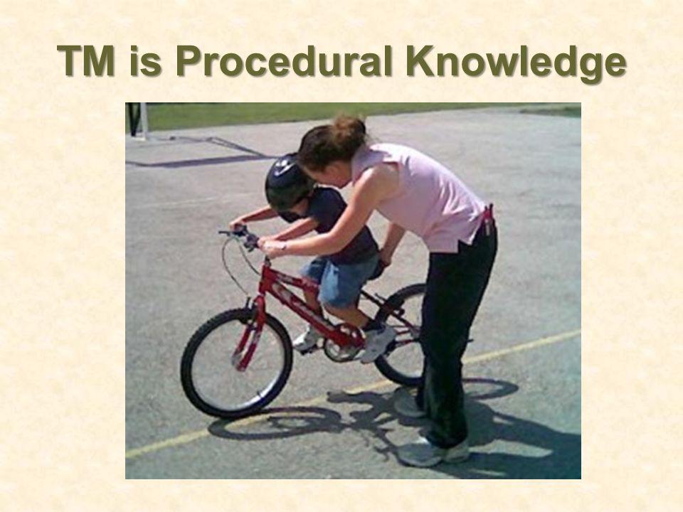 TM is Procedural Knowledge