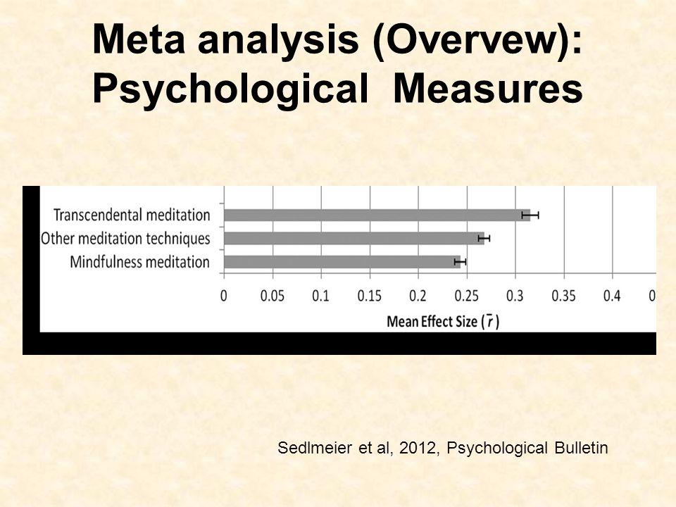 Meta analysis (Overvew): Psychological Measures Sedlmeier et al, 2012, Psychological Bulletin