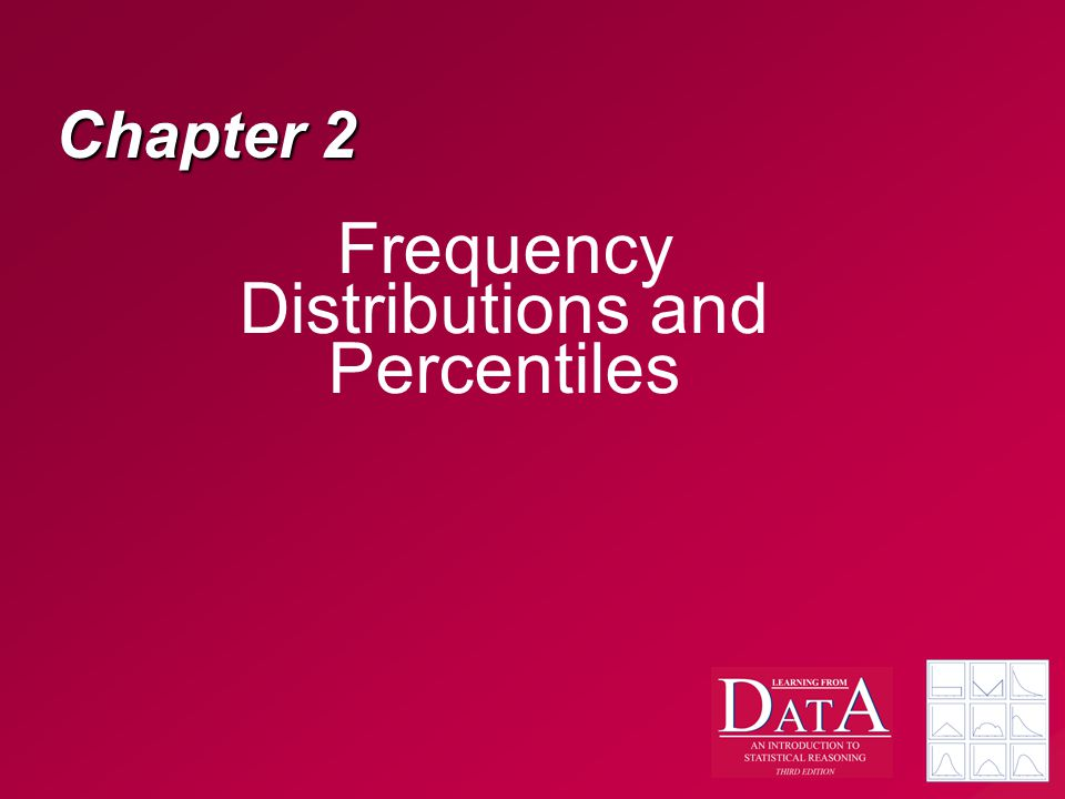 Chapter 2 Frequency Distributions and Percentiles