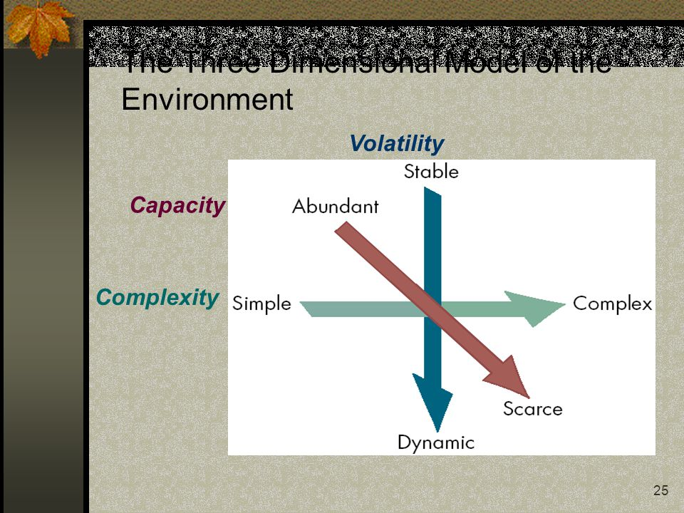 25 The Three Dimensional Model of the Environment Complexity Volatility Capacity