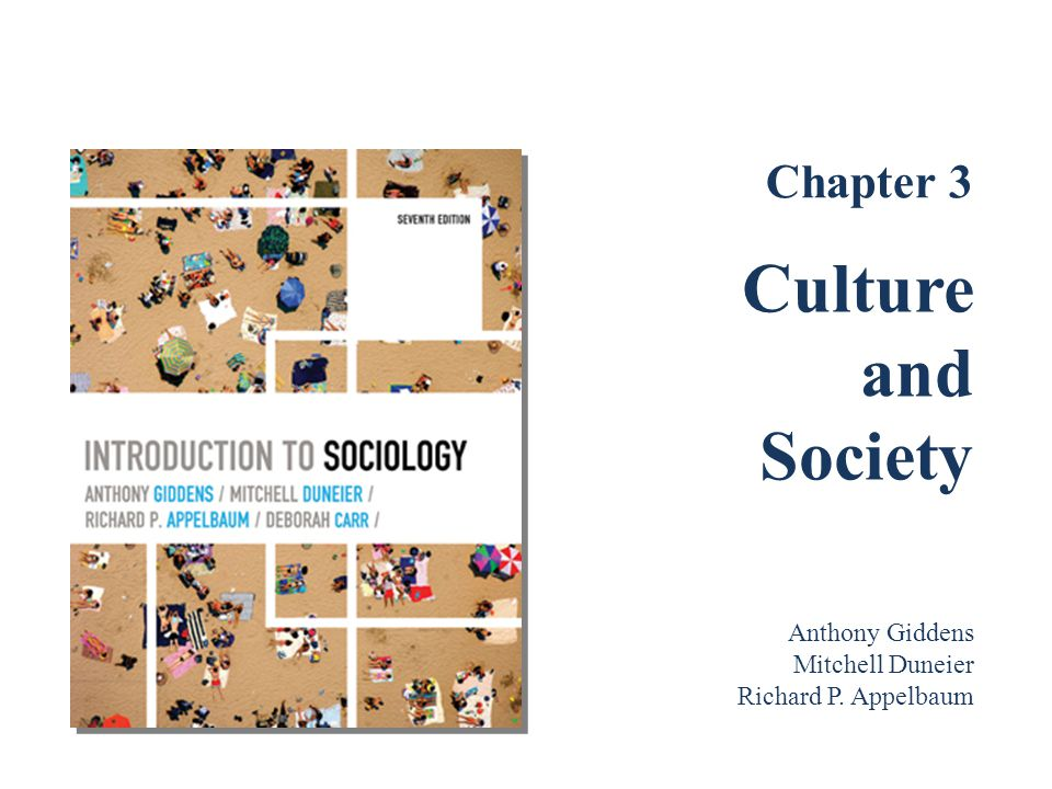 The Sociological Study of Culture What Is Culture.