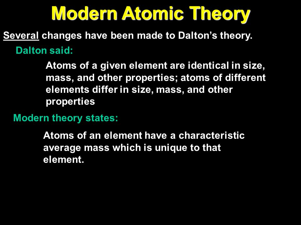 Dalton's Atomic Theory (1808)  Atoms cannot be subdivided, created, or destroyed  Atoms of different elements combine in simple whole-number ratios