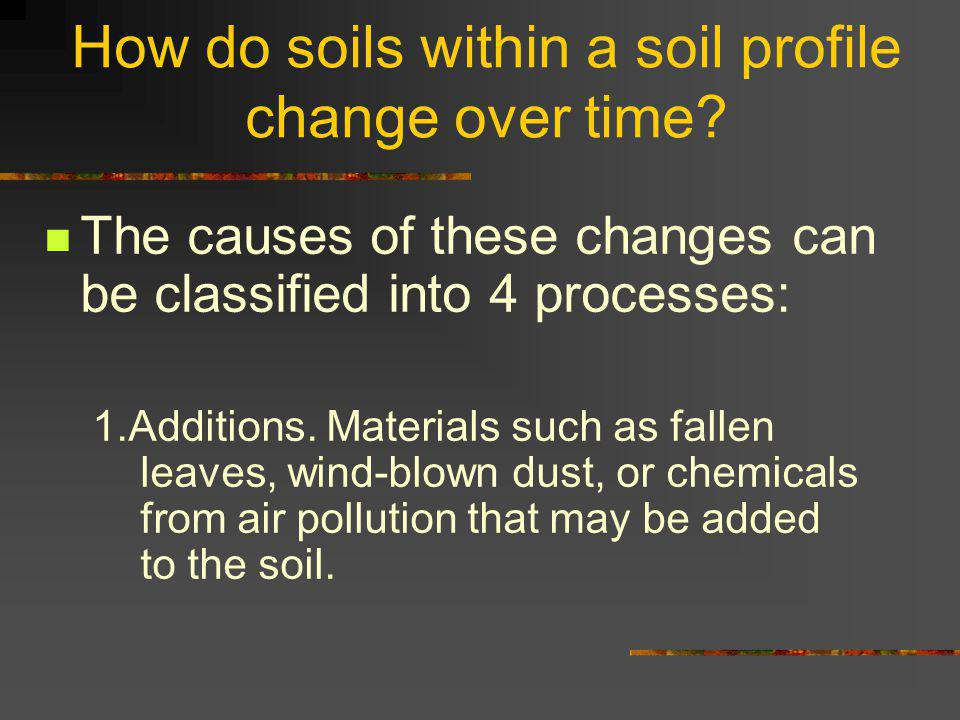 How do soils within a soil profile change over time.