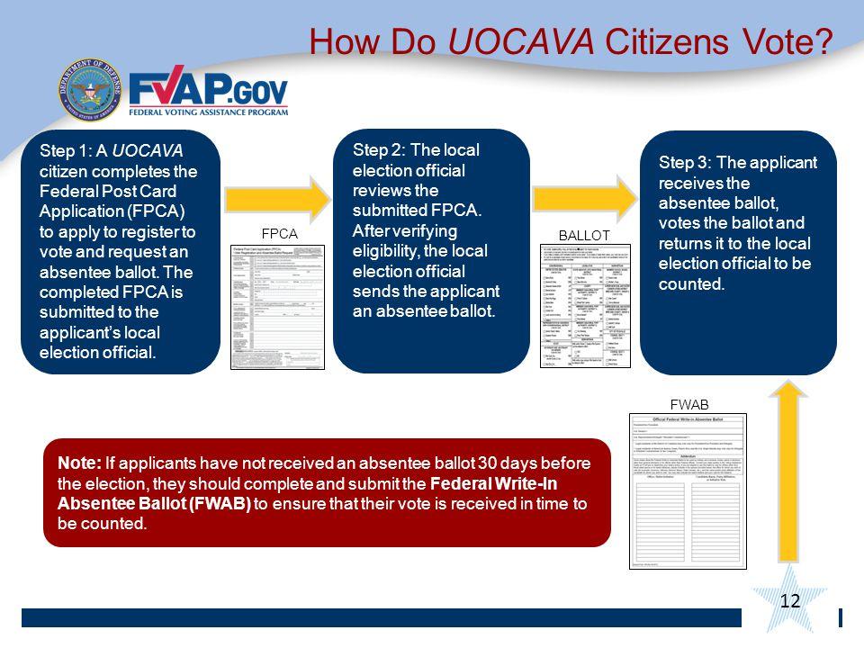 12 How Do UOCAVA Citizens Vote.