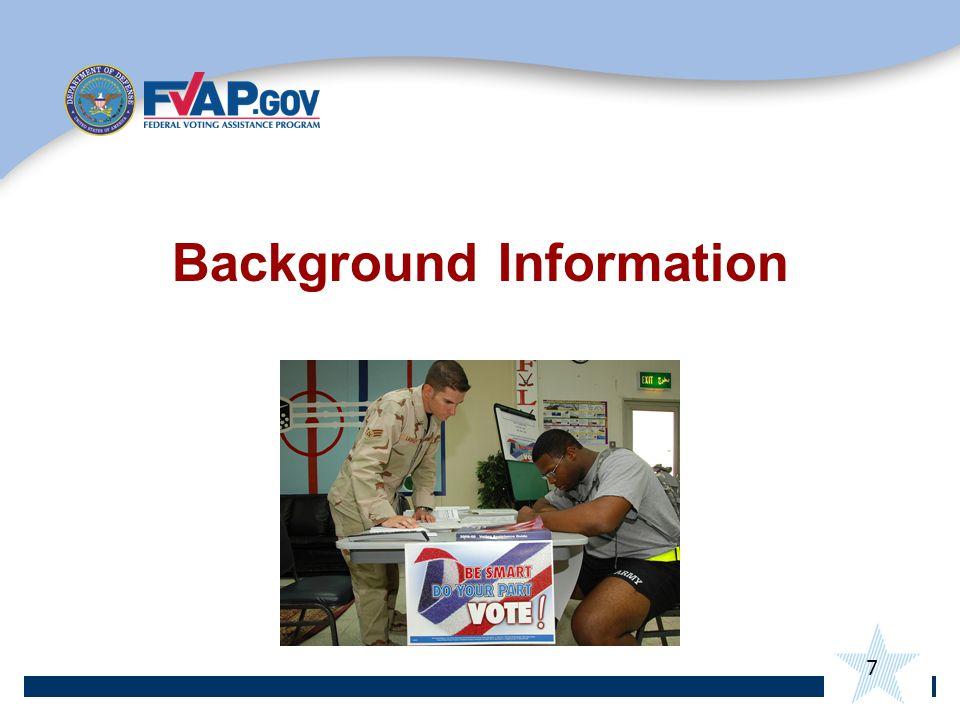 7 Background Information