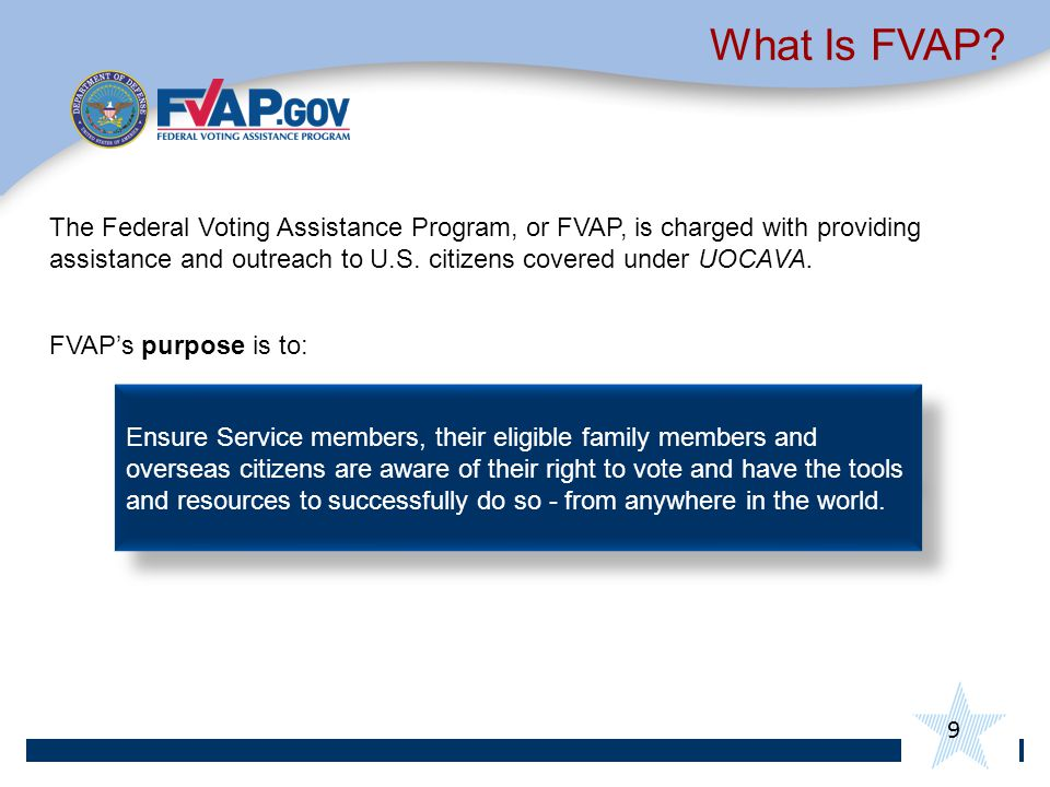 9 What Is FVAP.