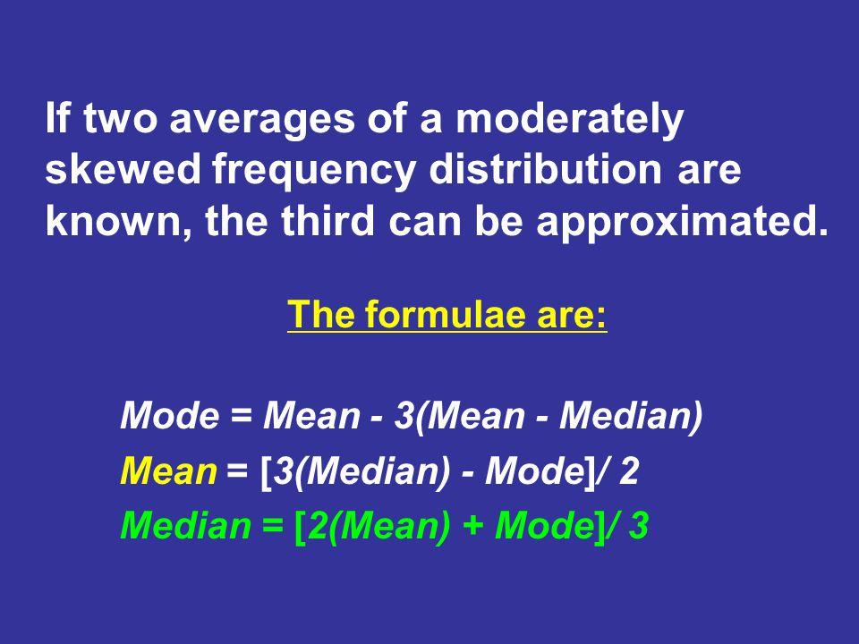 Bimodal Distribution Mean=Median Mode Mode 1 < Mean=Median < Mode 2