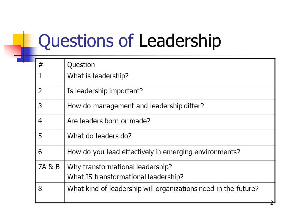 3 Effective Leaders