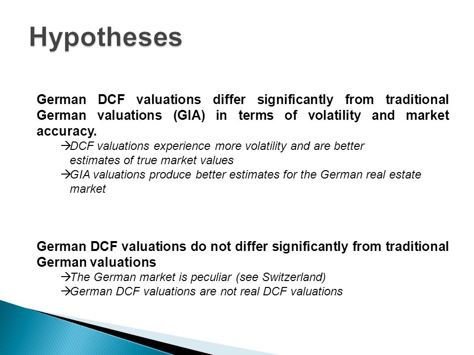 German DCF valuations differ significantly from traditional German valuations (GIA) in terms of volatility and market accuracy.