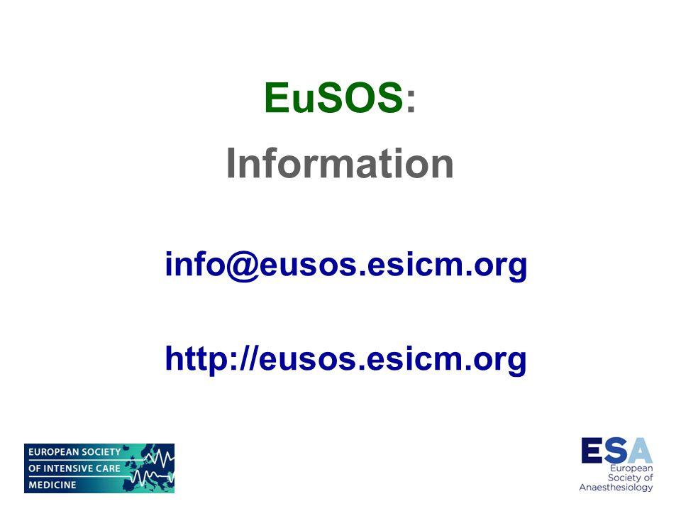 info@eusos.esicm.org http://eusos.esicm.org EuSOS: Information