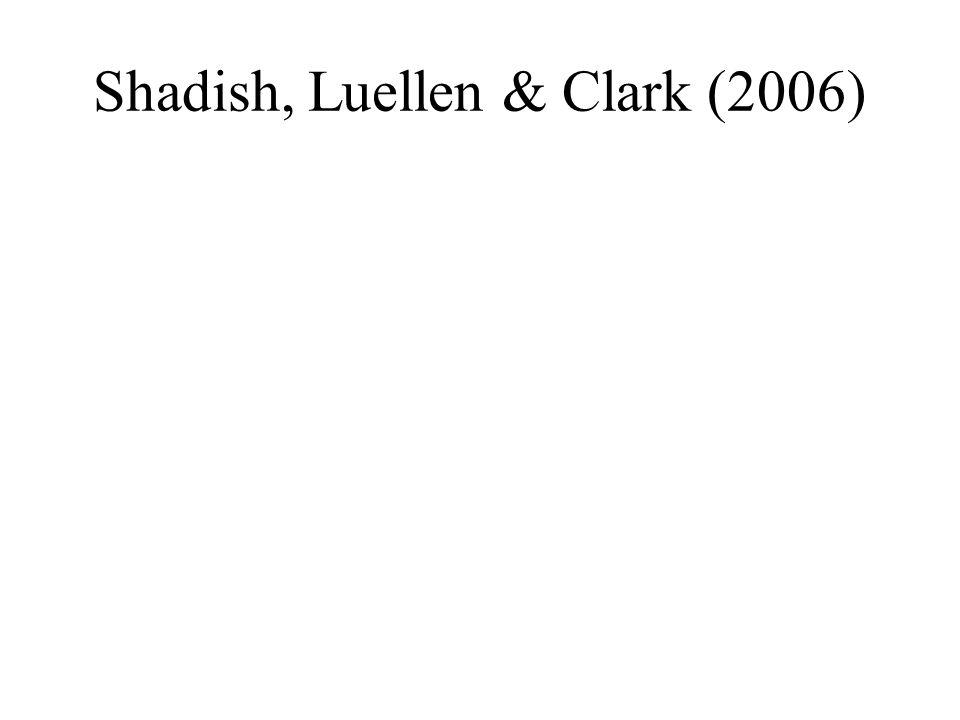 Shadish, Luellen & Clark (2006)