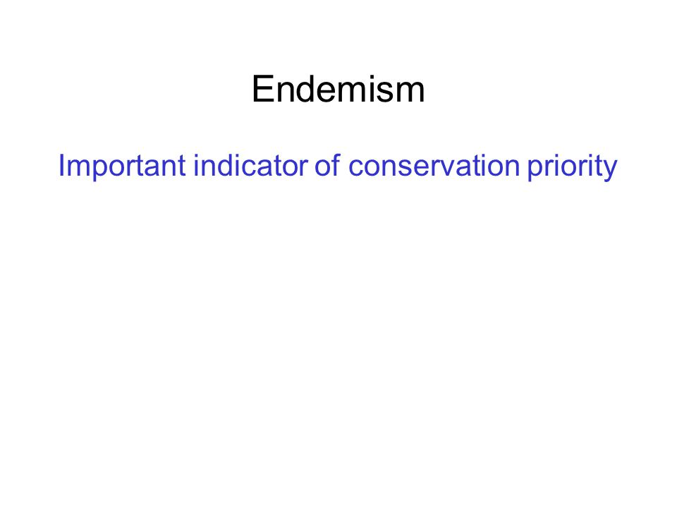 Important indicator of conservation priority