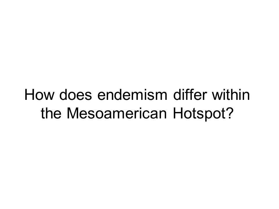 How does endemism differ within the Mesoamerican Hotspot