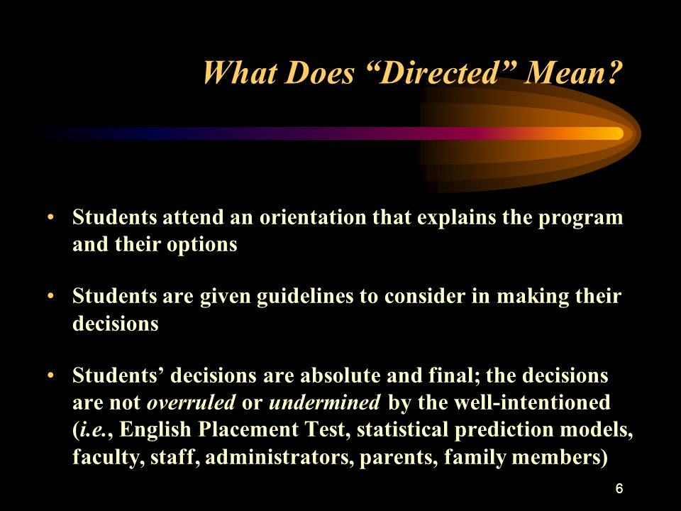 6 What Does Directed Mean.