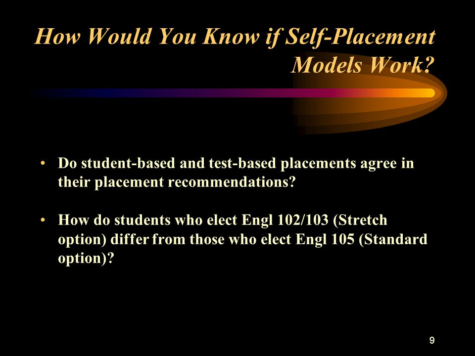 20 Research Question IV How do STANDARD and STRETCH students differ in their approach to writing and composition.