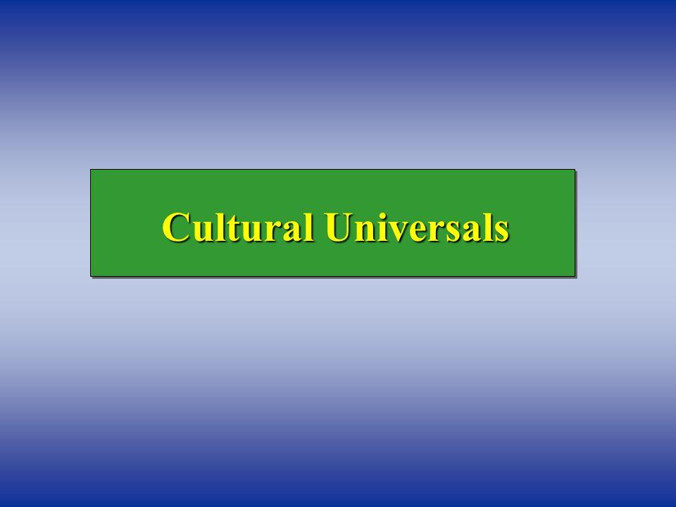 Cultural Universals