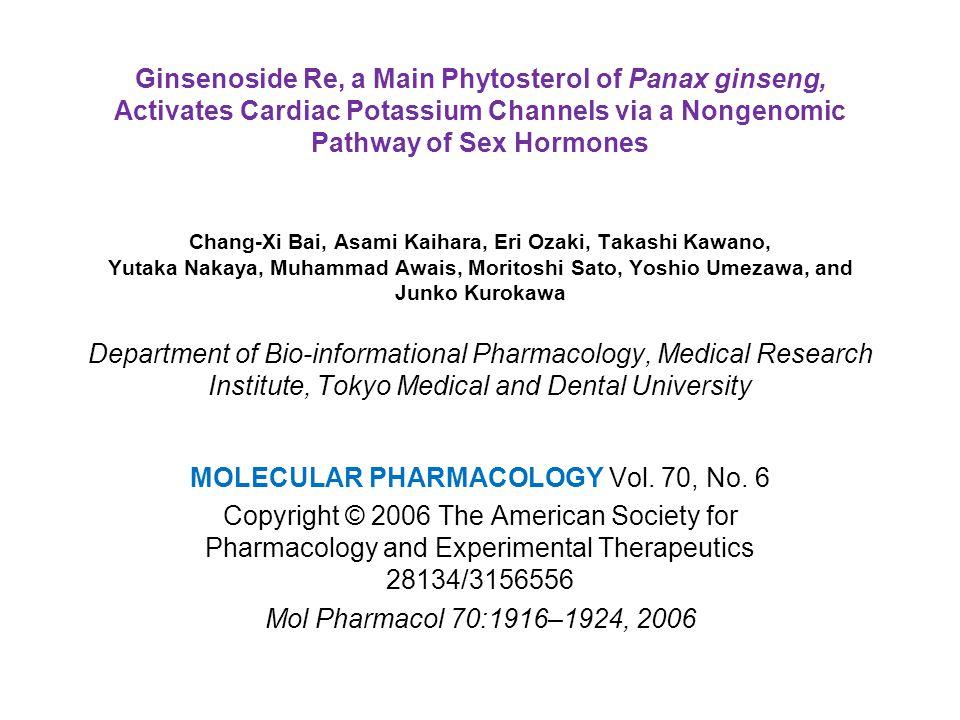 Both panaxadiols and panaxatriols activate IKs.