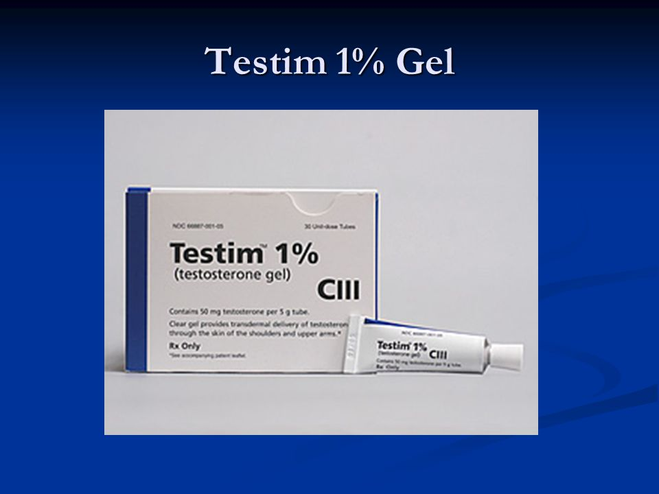 Other Testosterone Products Cream: Cream: First-Testosterone MC, 2% First-Testosterone MC, 2% Implant, SubQ: Implant, SubQ: Testopel, 75mg Testopel, 75mg Injection, Oil, as Cypionate: Injection, Oil, as Cypionate: Depo-Testosterone, 100mg/ml, 200mg/ml Depo-Testosterone, 100mg/ml, 200mg/ml Mucoadhesive, Buccal: Mucoadhesive, Buccal: Striant, 30mg Striant, 30mg