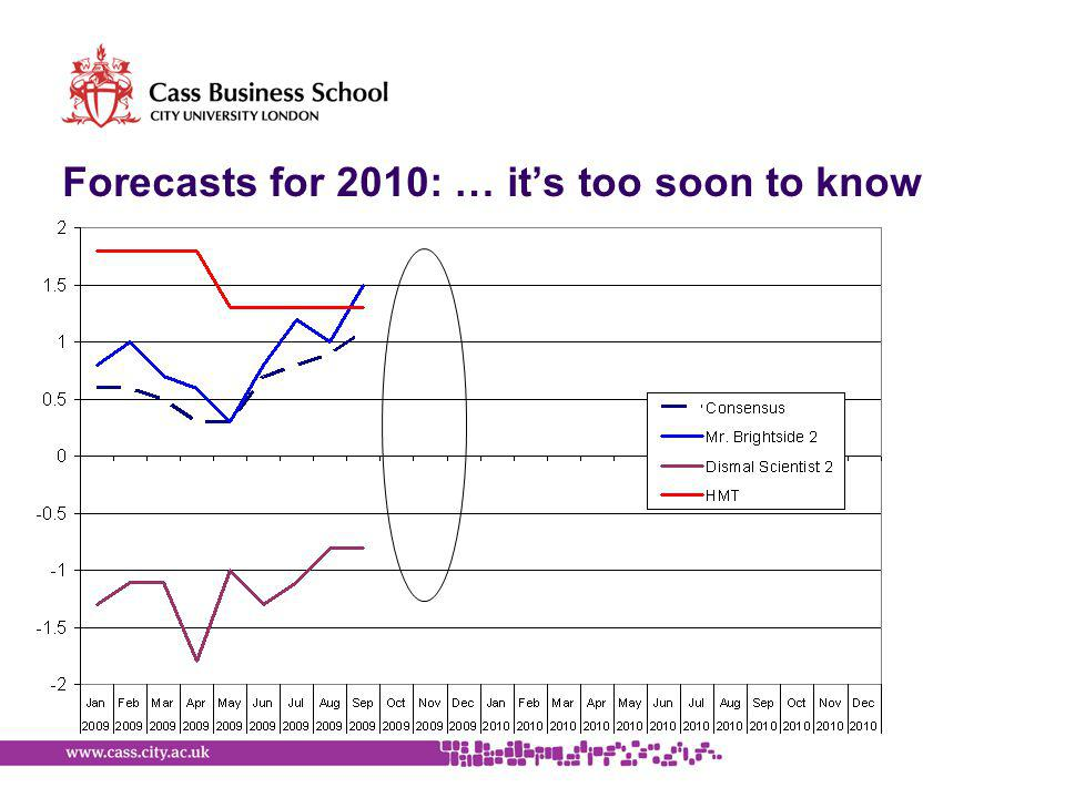 Forecasts for 2010: … it's too soon to know