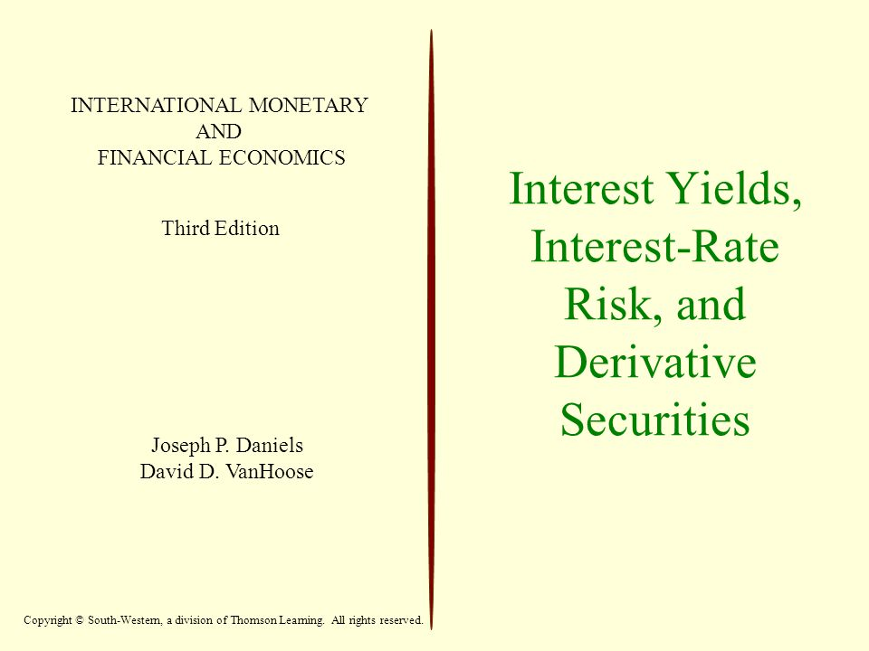 12 Expectations Theory Expectations theory explains how expectations about future yields can cause yields on instruments with different maturities to move together.
