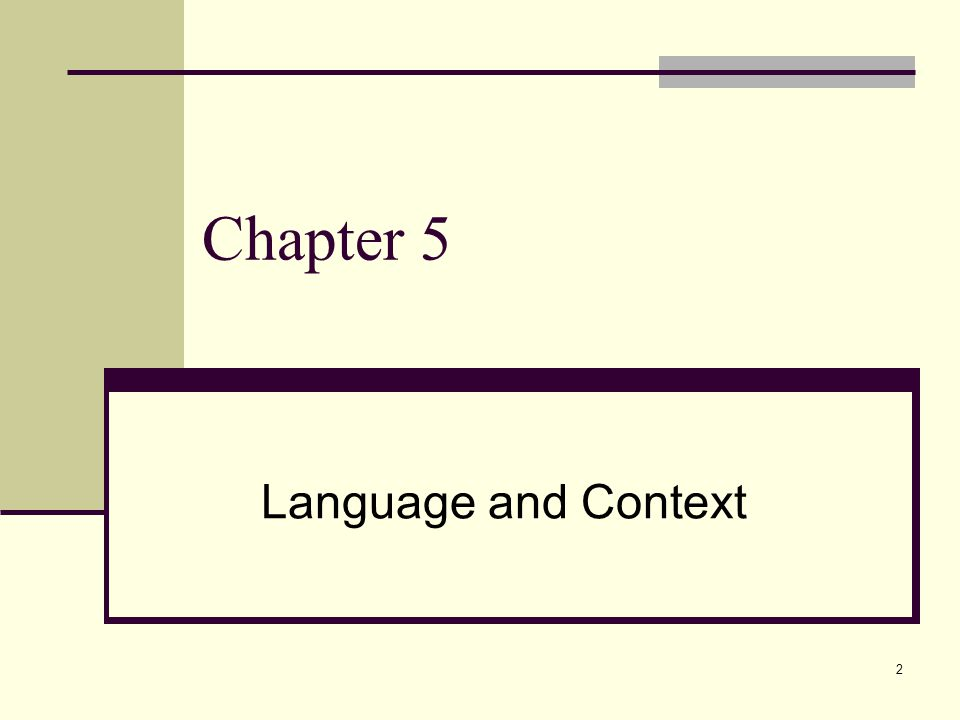 2 Chapter 5 Language and Context
