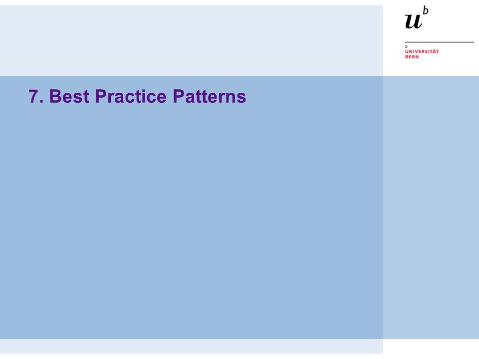 7. Best Practice Patterns