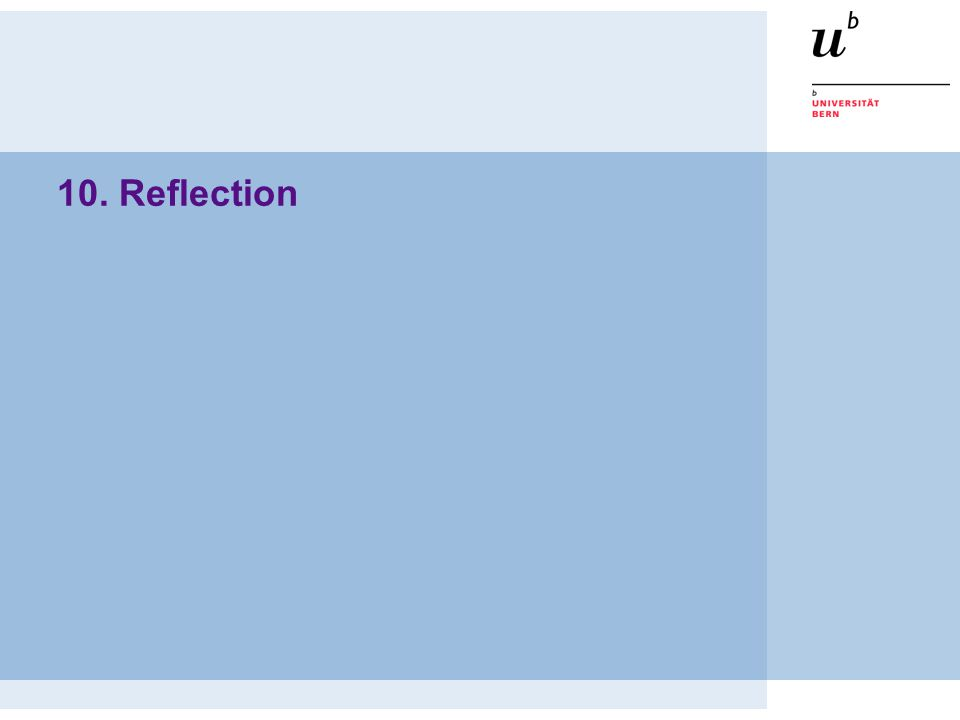 10. Reflection