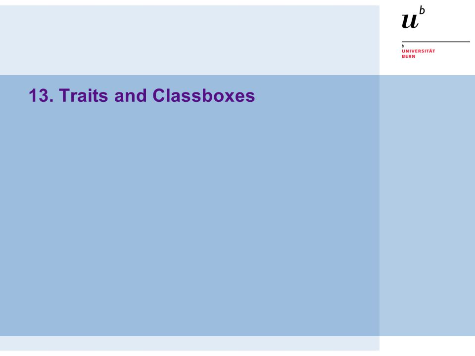 13. Traits and Classboxes