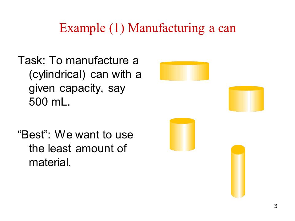 4 Example (2) Making a window Task: To manufacture a window with a given shape and perimeter.