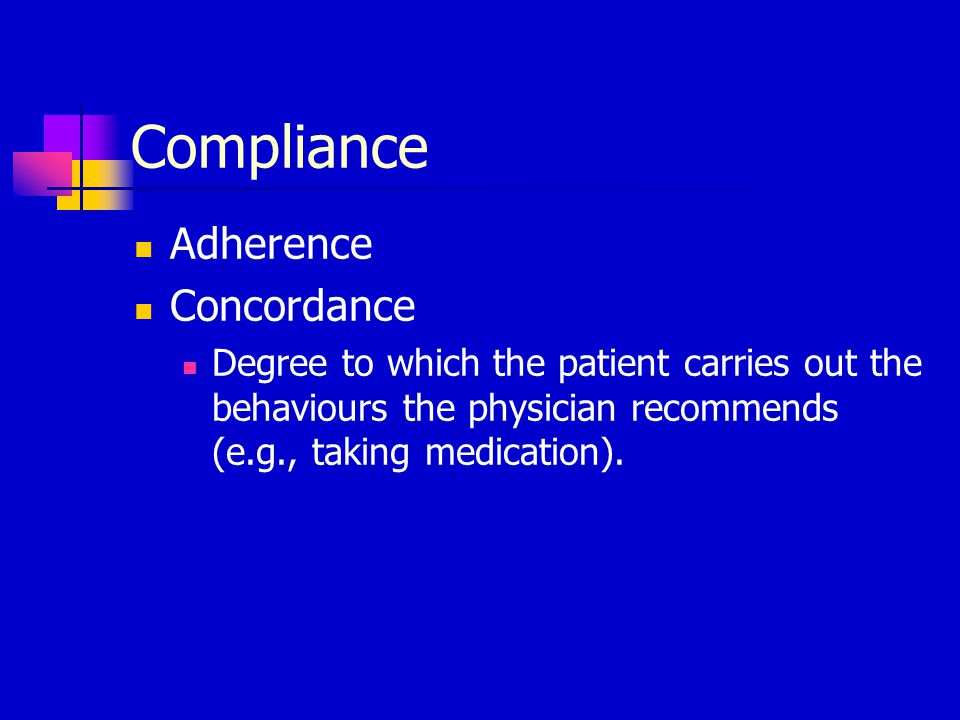 Extent of non-adherence problem Difficulties with assessing it: Many different kinds of medical advice to which one could adhere Can violate advice in many different ways Difficult to know if patient complied (50/50 chance that the physician's judgment of the patient's adherence is accurate).