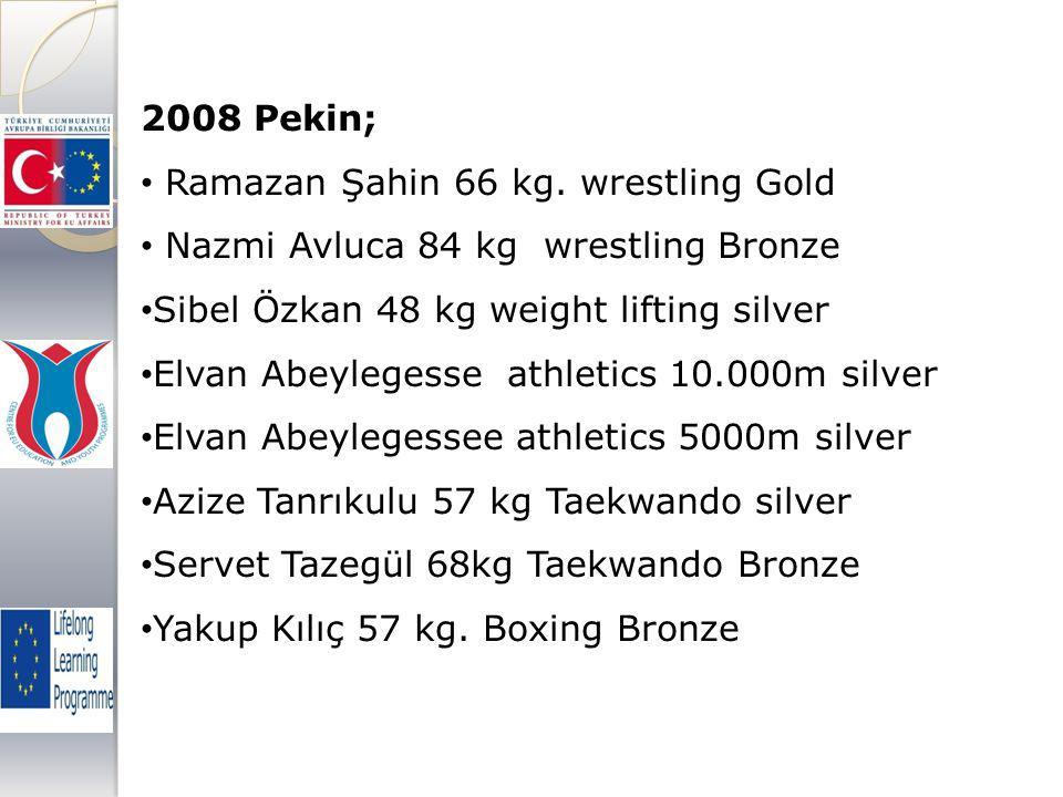2008 Pekin; Ramazan Şahin 66 kg.