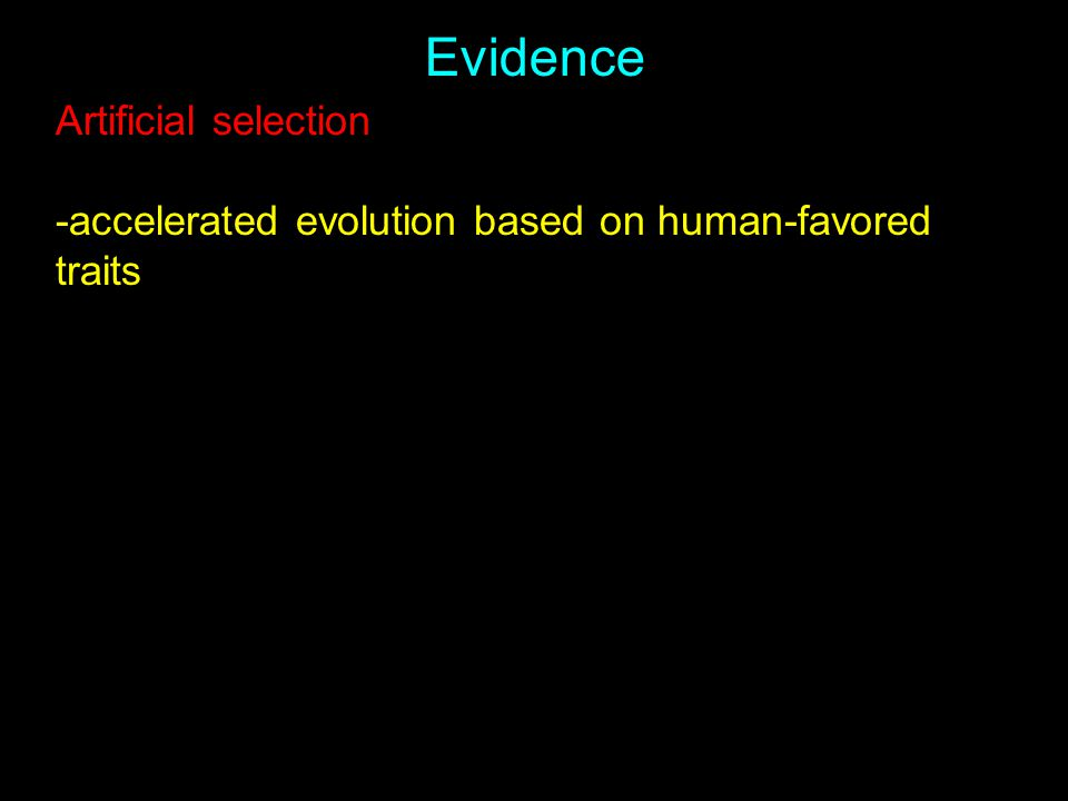 Evidence Artificial selection -accelerated evolution based on human-favored traits
