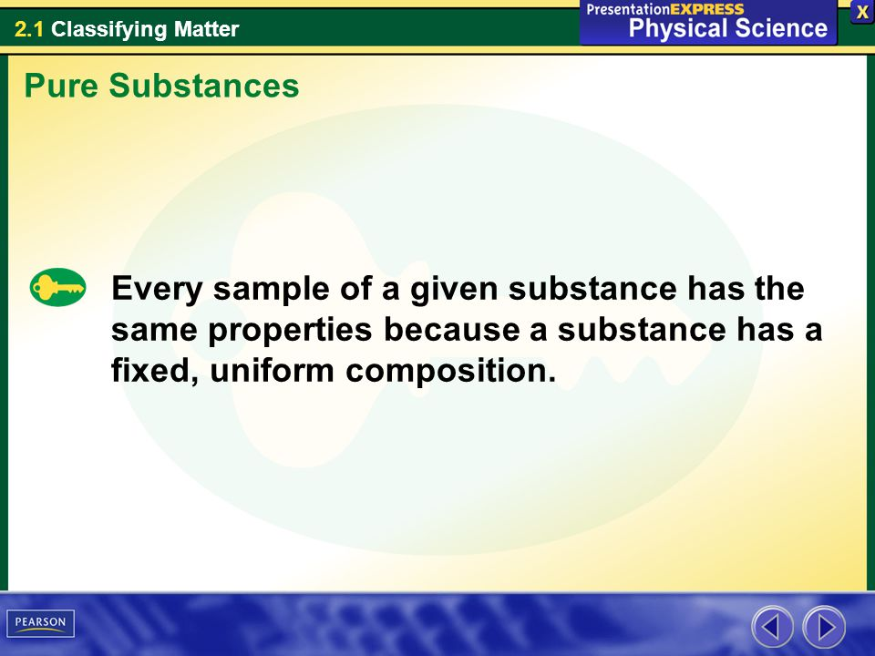 2.1 Classifying Matter How do mixtures differ from pure substances.
