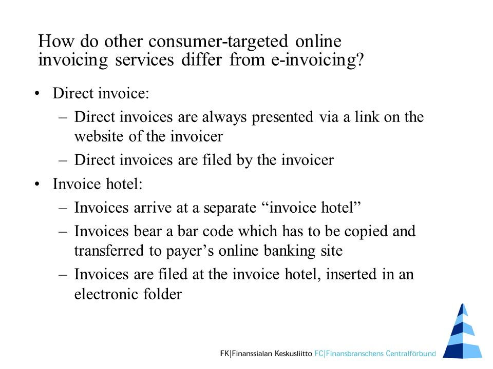 How do other consumer-targeted online invoicing services differ from e-invoicing.