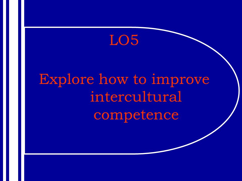 LO5 Explore how to improve intercultural competence