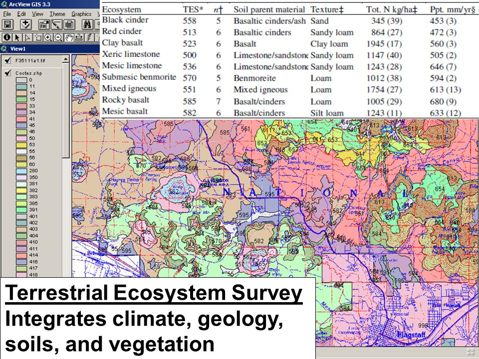 Terrestrial Ecosystem Survey Integrates climate, geology, soils, and vegetation