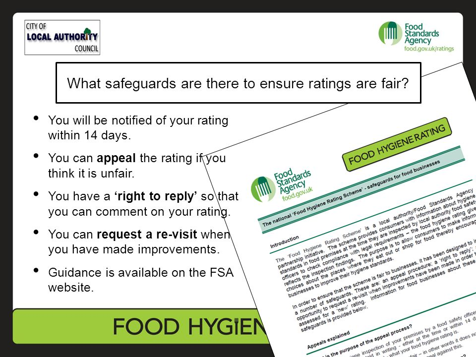 What safeguards are there to ensure ratings are fair? You will be notified of your rating within 14 days. You can appeal the rating if you think it is
