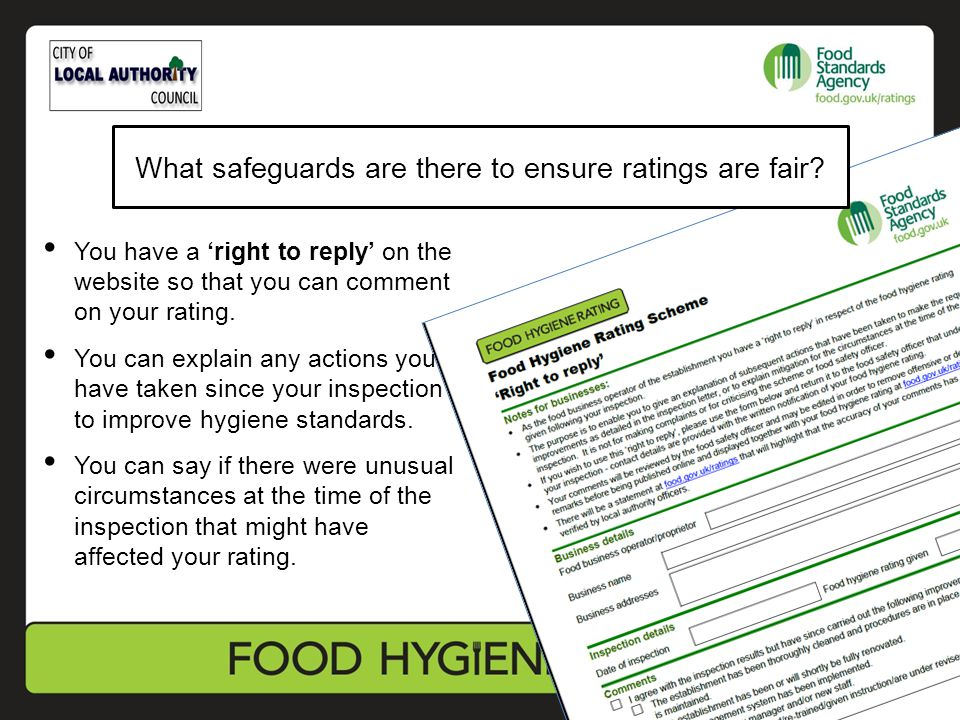 You have a 'right to reply' on the website so that you can comment on your rating.