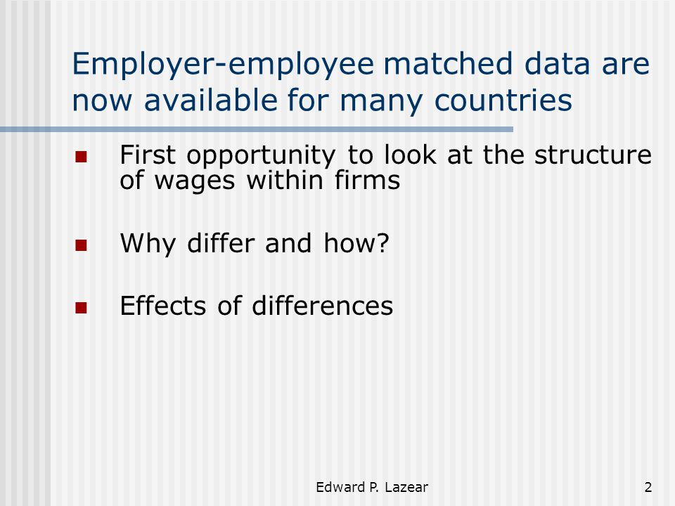 Edward P.Lazear23 Are All Firms Alike Wage Growth.