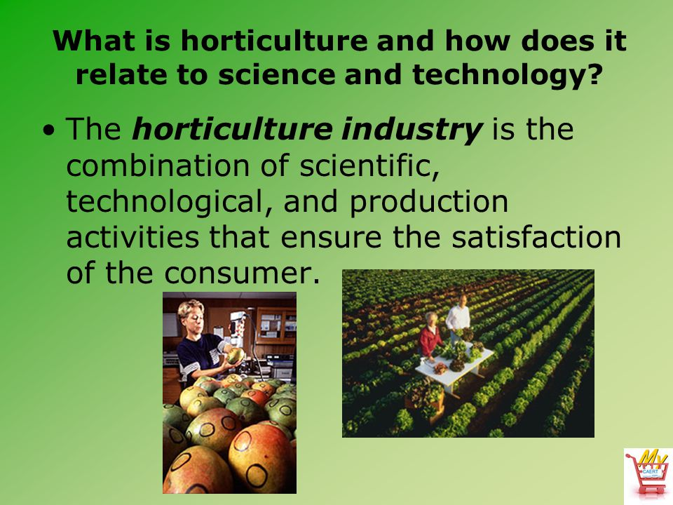What is horticulture and how does it relate to science and technology? The horticulture industry is the combination of scientific, technological, and