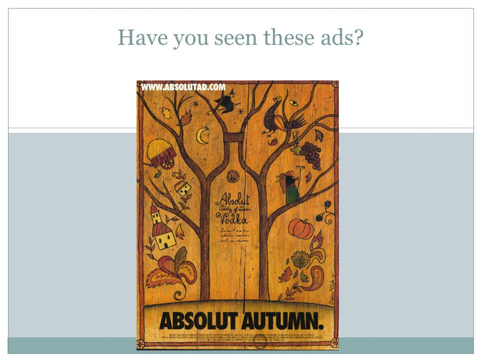 Have you seen these ads