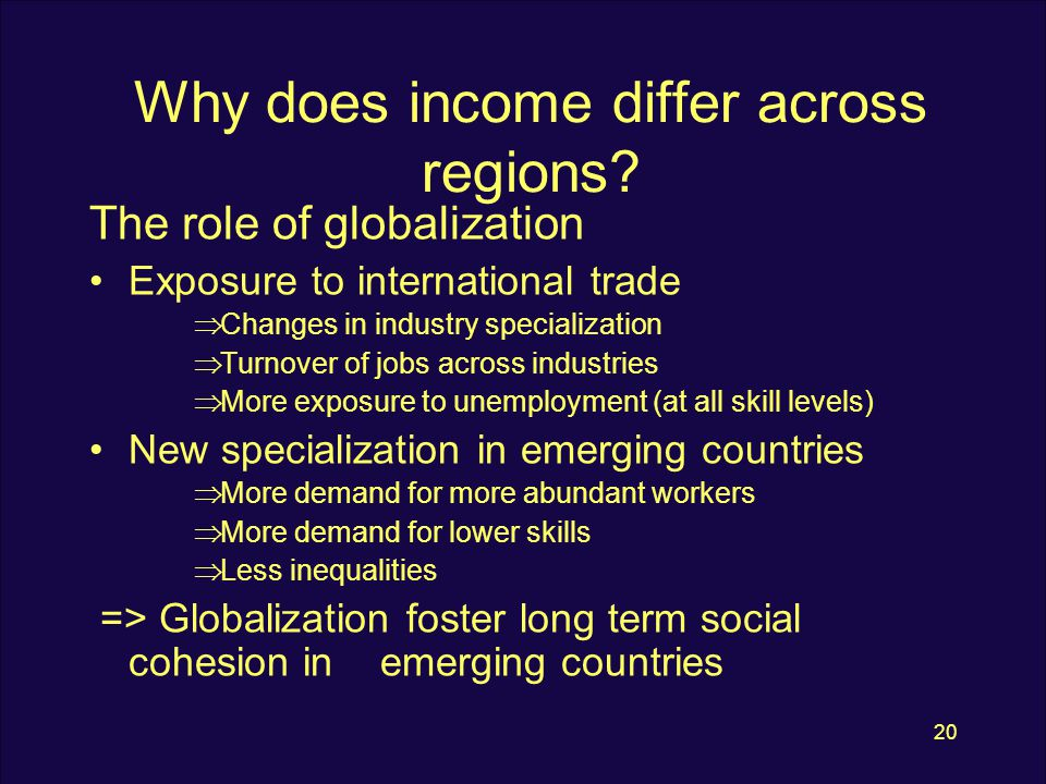 20 Why does income differ across regions.