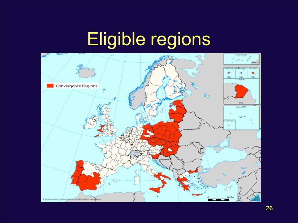 26 Eligible regions