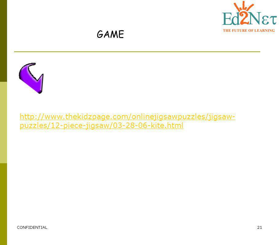 CONFIDENTIAL21 GAME http://www.thekidzpage.com/onlinejigsawpuzzles/jigsaw- puzzles/12-piece-jigsaw/03-28-06-kite.html