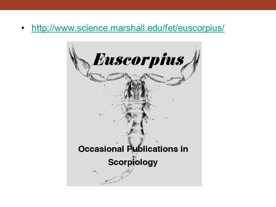 http://www.science.marshall.edu/fet/euscorpius/