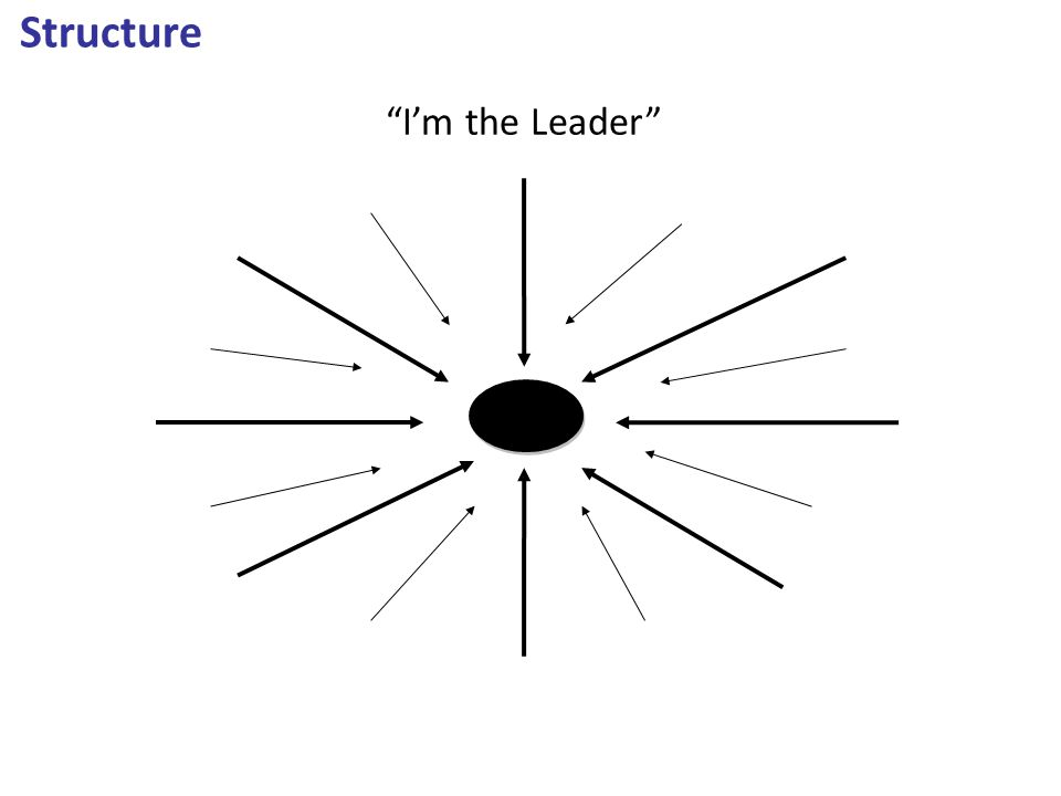 "Structure ""I'm the Leader"""