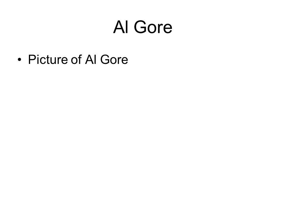 Al Gore Picture of Al Gore