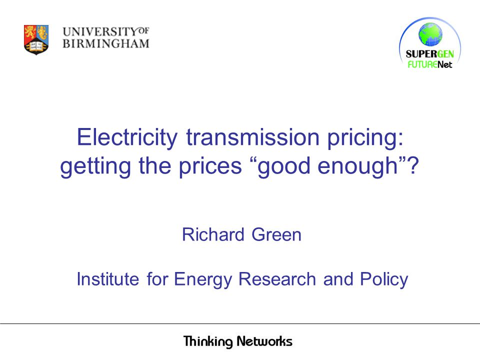 Electricity transmission pricing: getting the prices good enough .