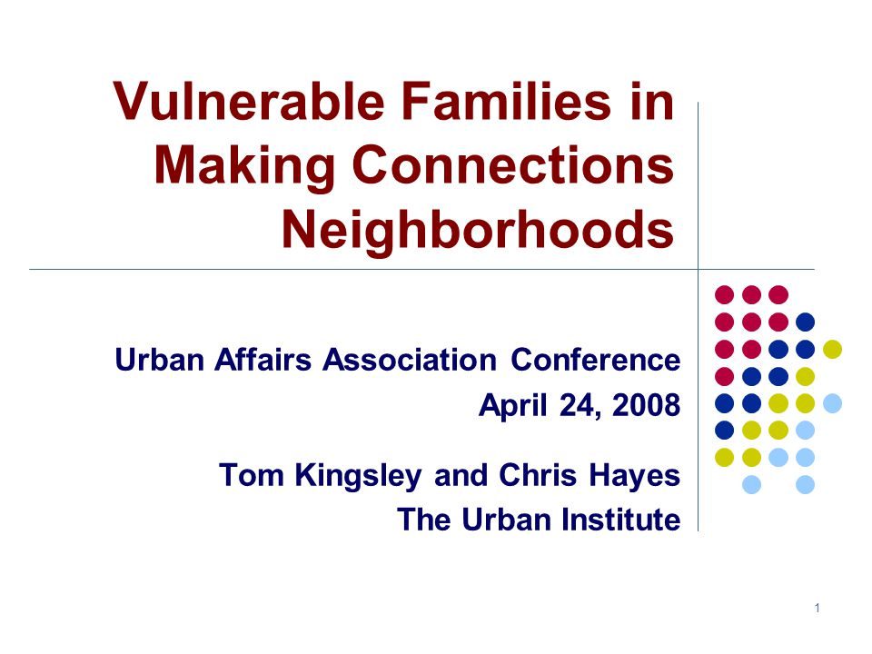 2 Vulnerables – The Issue Most families in MC neighborhoods not the vulnerables that are the intended focus of the initiative MC neighborhoods average 32% poor Need to identify and track vulnerables directly To interpret change reliably (indicators of well-being for vulnerables likely to differ from neighborhood averages) To better design and target services